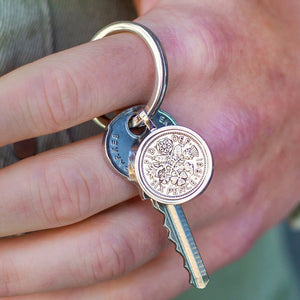 Sixpence 60th Birthday 1961 Coin Keyring