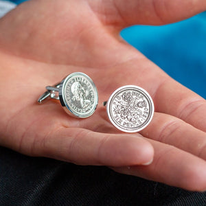 Sixpence Year Coin Cufflinks 1928-1967