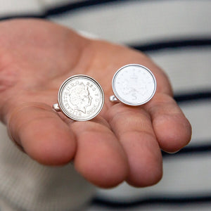 Five Pence (5p) Year Coin Cufflinks 1996 To 2005