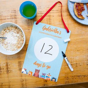 Personalised Children's Countdown To Christmas Calendar