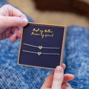 'First My Mother, Forever My Friend' Bracelet Set
