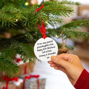 Baby's First Christmas Personalised Christmas Tree Decoration