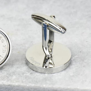Five Pence (5p) 18th Birthday 2002 Coin Cufflinks