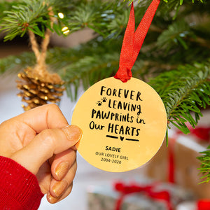 Personalised Remembrance Pet Christmas Bauble