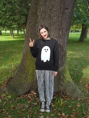 Ghost Unisex Halloween Sweatshirt Jumper