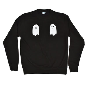 Twin Ghost Halloween Sweatshirt Jumper