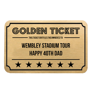 Personalised Giant Golden Ticket