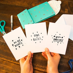 Pack Of Three Illustration Greeting Cards
