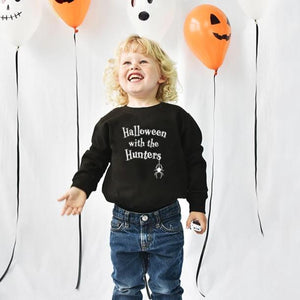 'Halloween With The…' Children's Sweatshirt Jumper