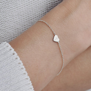 Monogram Personalised Sterling Silver Heart Bracelet