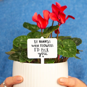 'If Grandma's / Granny's / Nanny's Were Flower's I'd Pick You' Plant Marker