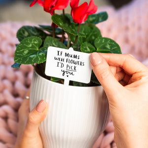 'If Mum's Were Flower's I'd Pick You' Plant Marker