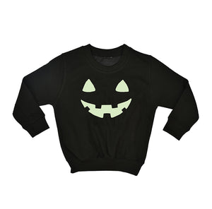 'Pumpkin Face' Halloween Children's Jumper Sweatshirt