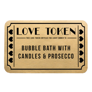 Personalised Love Token Gift Voucher Wallet Keepsake