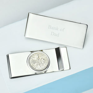 Lucky Sixpence Year Coin Money Clip 1928-1967