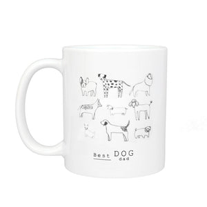 Best Dog Dad Illustration Mug