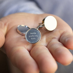 Personalised Magnetic Locket Secret Message Cufflinks