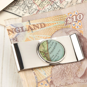 Map Personalised Money Clip