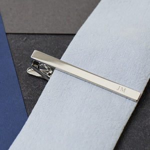 Initial Personalised Tie Clip