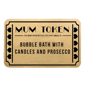 Mother's Day Mum Token Personalised Gift Voucher