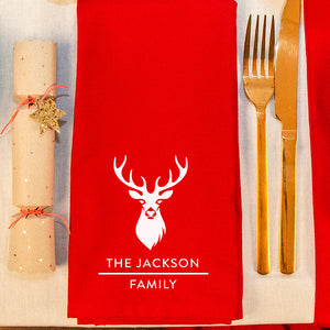 Personalised Family Stag Head Napkins