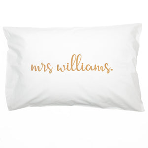 Personalised Couples Pillow Case Set