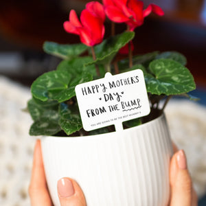 'Happy Mother's Day From The Bump' Plant Marker