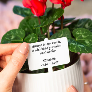 Personalised Message Remembrance Plant Marker