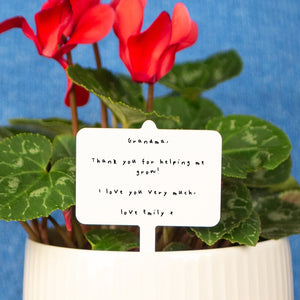 Personalised Mother's Day Handwritten Plant Marker