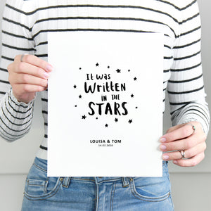 Personalised 'Written In The Stars' Couples Print