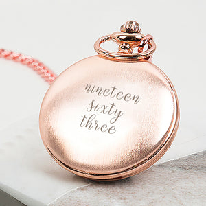 Milestone Written Year Personalsied Pocket Watch