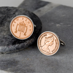 Lucky Penny Birthday Coin Cufflinks 1979 To 2005