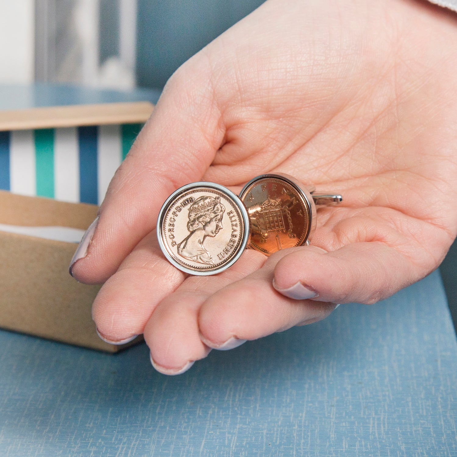 Penny Birthday Coin Cufflinks