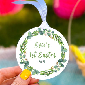 Personalised Babies First Easter Wreath Decoration