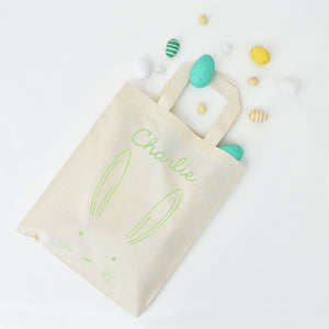 Personalised Easter Bunny Rabbit Egg Hunt Bag