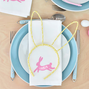 Personalised Bunny Rabbit Napkin