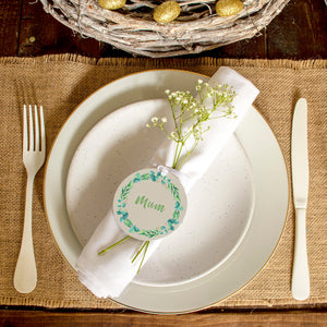 Easter Wreath Personalised Place Setting Set Of Two