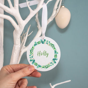 Easter Wreath Personalised Name Decoration