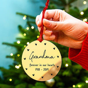 Personalised Remembrance In Our Hearts Christmas Bauble