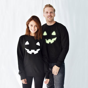 'Pumpkin Face' Unisex Halloween Sweatshirt Jumper