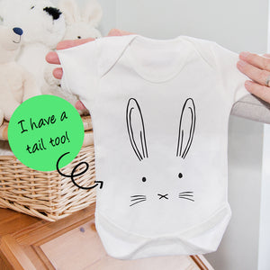 New Baby Bunny Face Romper