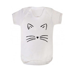 'Cat Face' Halloween Baby Grow