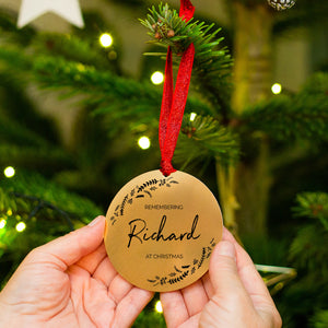 Personalised Remembrance Christmas Tree Decoration