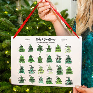 Personalised Couples Reusable Activity Advent Calendar