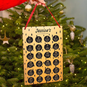 Personalised Acts Of Kindness Reusable Advent Calendar
