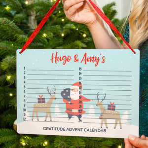 Personalised Children's Gratitude Christmas Advent Calendar
