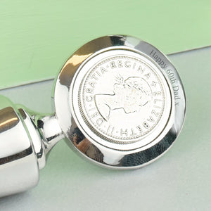 Sixpence 60th Birthday 1959 Coin Bottle Stopper