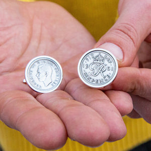 Sixpence 70th Birthday 1951 Coin Cufflinks