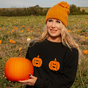 Twin Pumpkin Halloween Sweatshirt Jumper