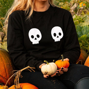Twin Skull Halloween Sweatshirt Jumper